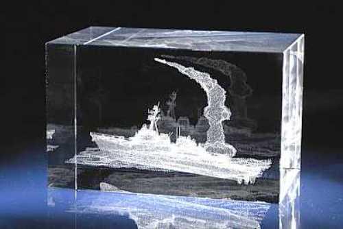 Подарок корабль с гравировкой 7